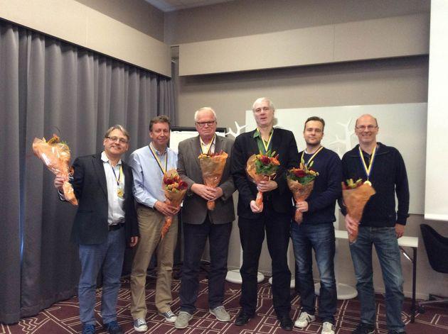 1:a ... Skalman, Uppsalabridgen. Krister Ahlesved, Niklas Warne, Gunnar Hallberg, Jonas Petersson, P-O Cullin, Tommy Bergdahl, Peter Bertheau (ej på bild)