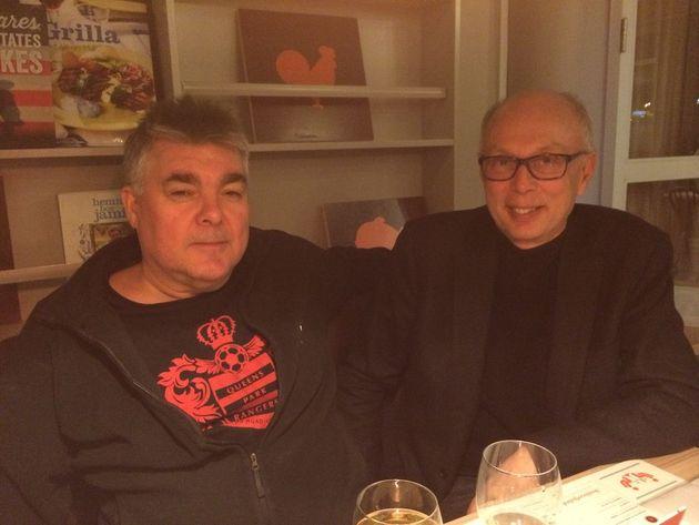 Två goda vänner som möts imorgondagens final Leif Ruthström och Göran Selldén