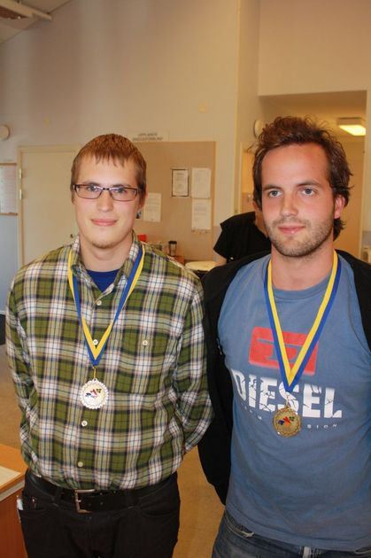 Johan Karlsson - Adam Stokka bronsmedaljörer