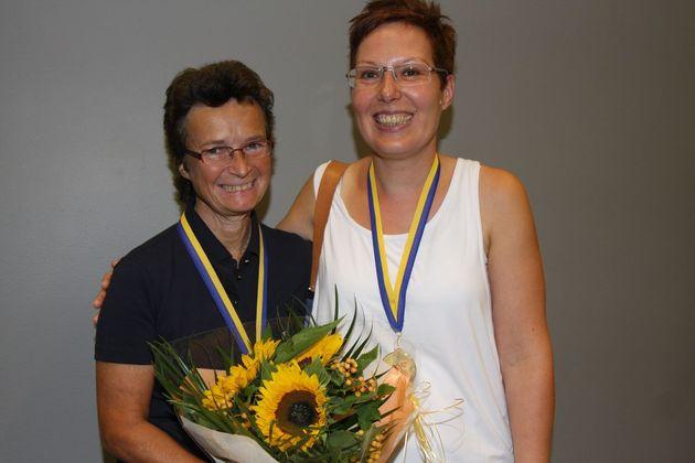 SM Par Dam: 1:a ... Pia Andersson och Lena Johansson, BK Everfresh/Vårgårda BS