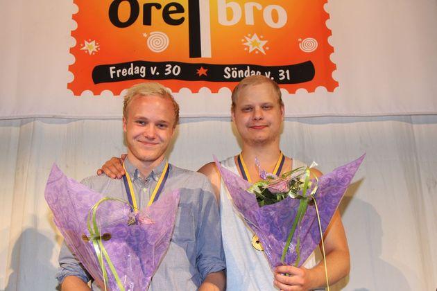 1:a ... Wilhelm Groth  och Mattias Höglund, BK Hudik