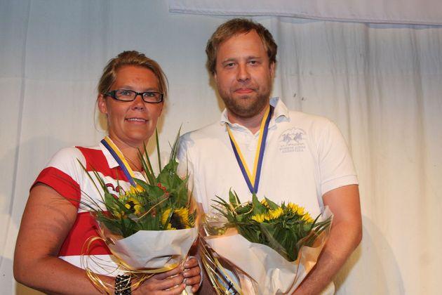 2:a ... Anna Hult och Richard Olofsson, Gävle BK