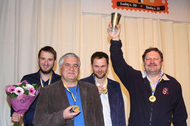 1:a 2015...Pawel Jassem, Jerzy Skrzypczak, Piotr Zatorski och Boguslaw Gierulski.