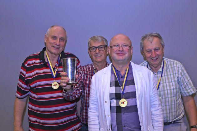 1:a 2016...Litauen med  Apolinary Kowalski, Wojciech Olanski,  Vytas Vainikonis och Jerzy Russian.