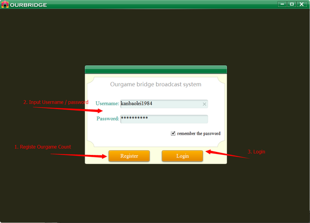OurBridge: Registration / Login