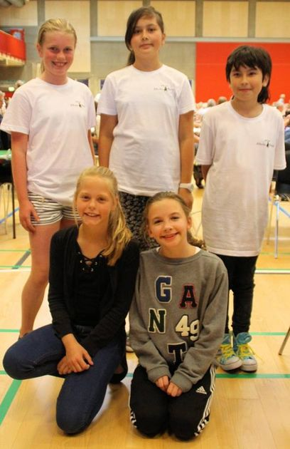 Ellen, Yva, Oskar, Andrea och MayaLo i Danmark
