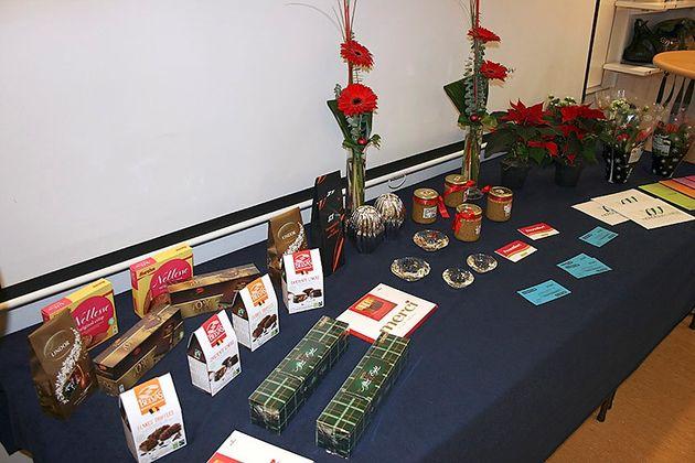 Prisbordet vid julfesten