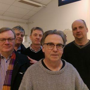 Segrare av DM-lag Uppland 2016, lag Greven: Anders Blomé, Kjell Hedman, Christer Eriksson, Ulf Nohrén, Thomas Ivarsson (Jenny Evelius-Nohrén ej närvarande vid fotografering)