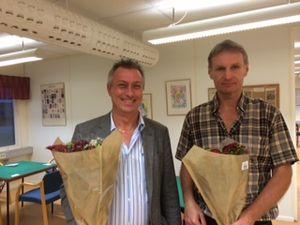 Vinnare av Albrekts Guld 2014,  Mikael Westerlund och Kent Johansson