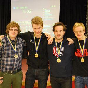 Segrarna i JSM-lag 2015:Hans-Ove Crew Johan Karlsson, Mikael Rimstedt, Adam Stokka och Alexander Sandin.