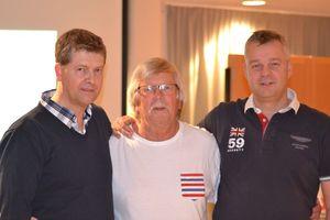 Vinnarna Per Jansson och Lars Kennethsson med TL Stefan Åstrand i mitten