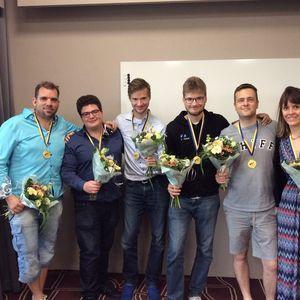 1 ... Michielsen ... Peter Bertheau, Simon Hult, Mikael Rimstedt, Ola Rimstedt, Per-Ola Cullin, Marion Michielsen