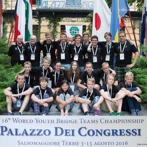 Juniorlandslagstruppen senast det begav sig i Italien