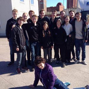 Juniorparen som spelade med framgång i Falkenberg